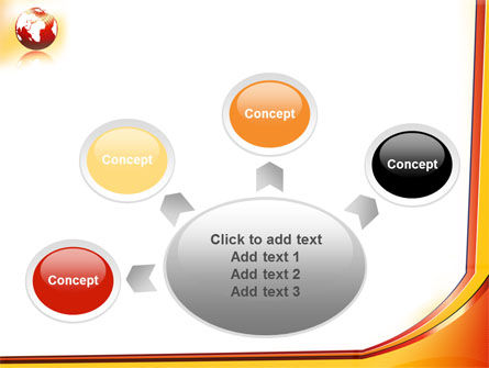 Orange Globe Theme PowerPoint Template Slide 7