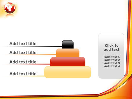 Orange Globe Theme PowerPoint Template Slide 8