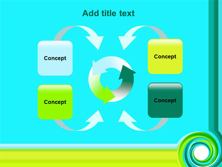 Aqua Swirl PowerPoint Template Slide 6