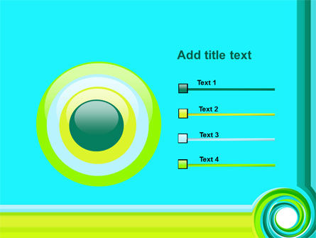 Aqua Swirl PowerPoint Template Slide 9