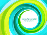 Abstract/Textures: Aqua Swirl PowerPoint Template #07725