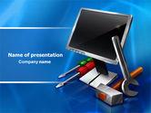 Utilities/Industrial: Modello PowerPoint - Aiuto computer tech #07726