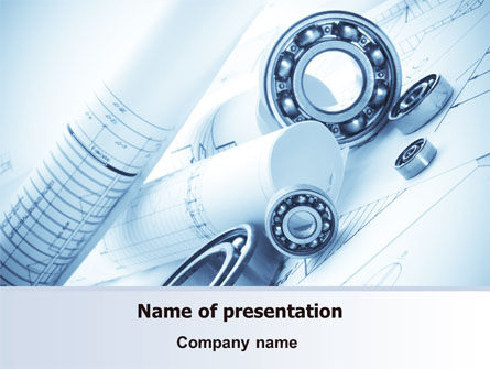 Mechanical Sketch Powerpoint Template Backgrounds