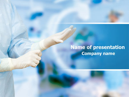 Medical: Rubber Gloves PowerPoint Template #07730