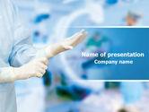 Medical: Modelo do PowerPoint - luvas de borracha #07730