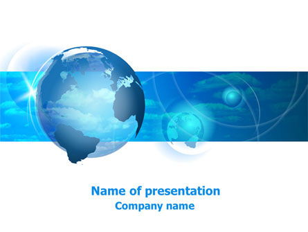 Global: World Sky PowerPoint Template #07733