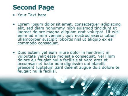 Illuminated Optic Fiber PowerPoint Template, Slide 2, 07734, Telecommunication — PoweredTemplate.com