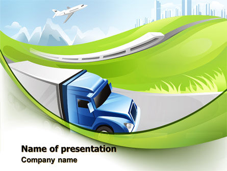 Transport PowerPoint Template, 07735, Cars and Transportation — PoweredTemplate.com