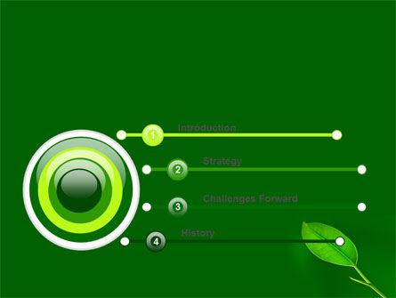 New Green Leaf PowerPoint Template, Slide 3, 07736, Nature & Environment — PoweredTemplate.com