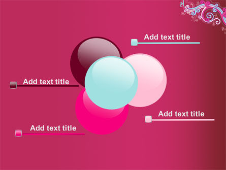 Pink Ornament PowerPoint Template Slide 10