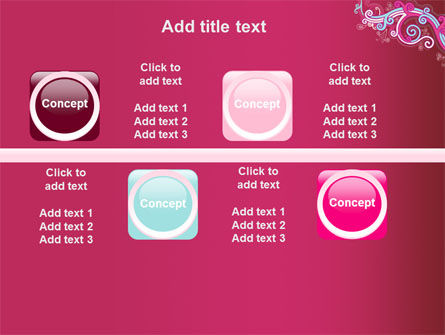 Pink Ornament PowerPoint Template Slide 19