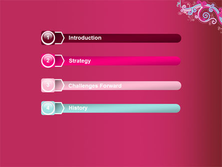 Pink Ornament PowerPoint Template Slide 3