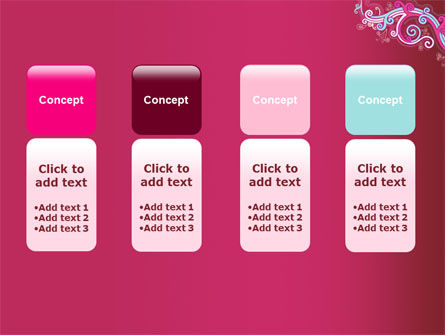 Pink Ornament PowerPoint Template Slide 5