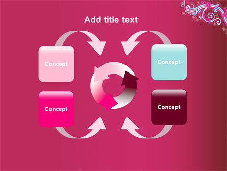 Pink Ornament PowerPoint Template Slide 6