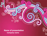 Abstract/Textures: Pink Ornament PowerPoint Template #07738