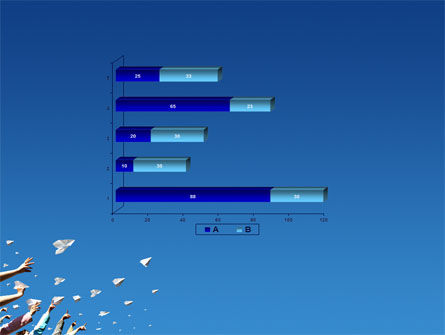 Running Paper Planes PowerPoint Template Slide 11