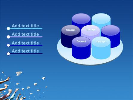 Running Paper Planes PowerPoint Template Slide 12