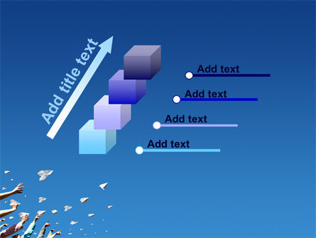 Running Paper Planes PowerPoint Template Slide 14