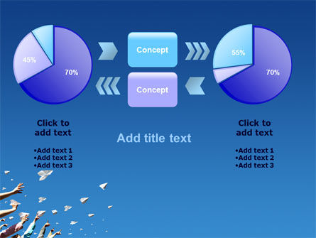 Running Paper Planes PowerPoint Template Slide 16