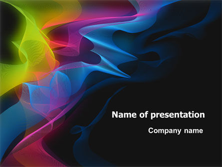 Abstract Rainbow Stripes PowerPoint Template, 07743, Abstract/Textures — PoweredTemplate.com