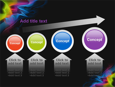 Abstract Rainbow Stripes PowerPoint Template Slide 13
