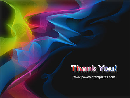 Abstract Rainbow Stripes PowerPoint Template Slide 20