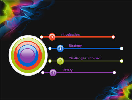 Abstract Rainbow Stripes PowerPoint Template, Slide 3, 07743, Abstract/Textures — PoweredTemplate.com