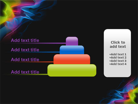 Abstract Rainbow Stripes PowerPoint Template Slide 8