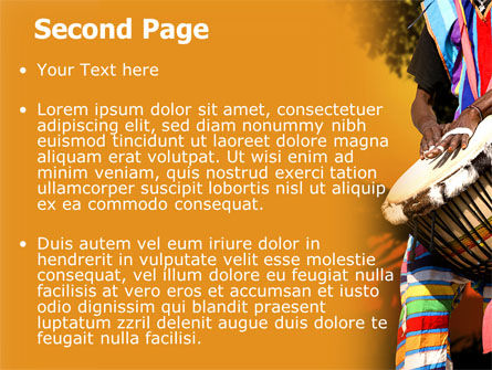 African Drum PowerPoint Template, Slide 2, 07744, Flags/International — PoweredTemplate.com
