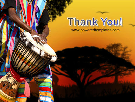 African Drum PowerPoint Template Slide 20