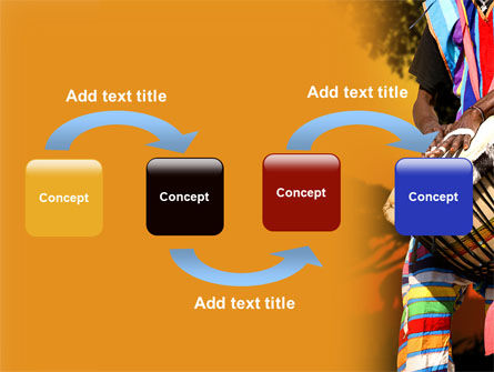 African Drum PowerPoint Template, Slide 4, 07744, Flags/International — PoweredTemplate.com