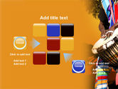 African Drum PowerPoint Template#16