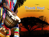 African Drum PowerPoint Template#20