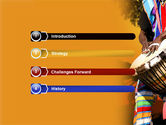 African Drum PowerPoint Template#3