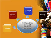 African Drum PowerPoint Template#7