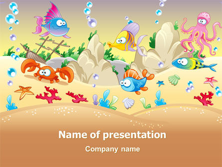 Under the Sea PowerPoint Template, 07745, Education & Training — PoweredTemplate.com
