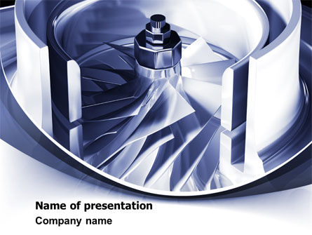 Utilities/Industrial: Turbine PowerPoint Template #07749