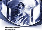 Utilities/Industrial: Turbine PowerPoint Template #07749