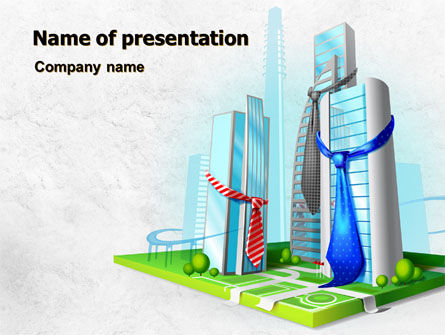 Business: Business Buildings PowerPoint Template #07750