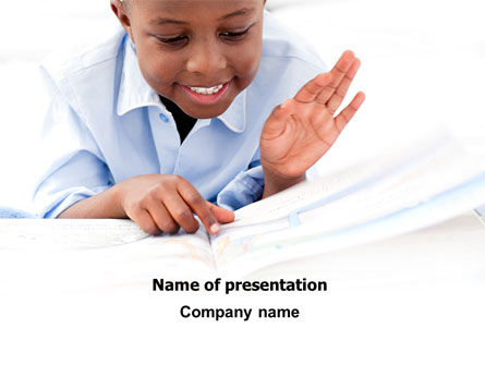 Learning Boy PowerPoint Template, 07751, Education & Training — PoweredTemplate.com