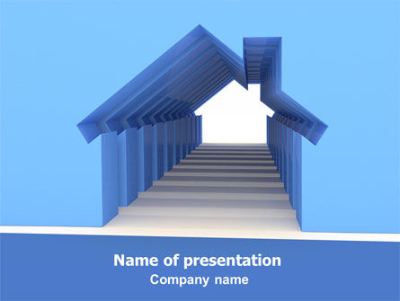 House Perspective PowerPoint Template, 07753, Careers/Industry — PoweredTemplate.com