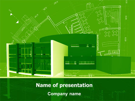 Building Layout PowerPoint Template, 07754, Construction — PoweredTemplate.com