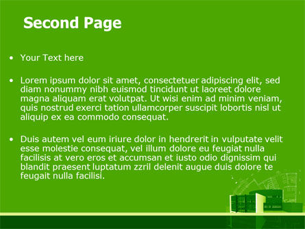 Building Layout PowerPoint Template, Slide 2, 07754, Construction — PoweredTemplate.com
