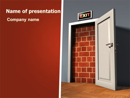 Consulting: Blocked Exit PowerPoint Template #07755