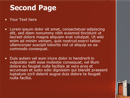 Blocked Exit PowerPoint Template Slide 2