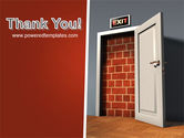 Blocked Exit PowerPoint Template#20