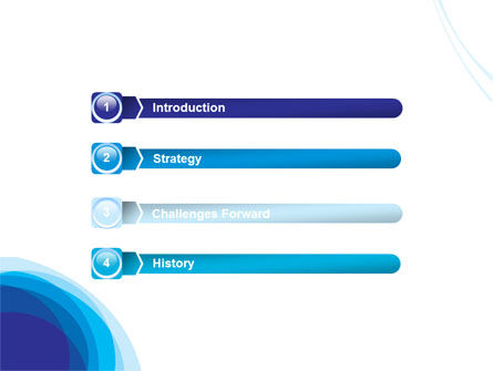 Blue Gradations PowerPoint Template Slide 3