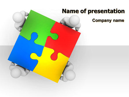 Puzzle Solved PowerPoint Template, 07757, Consulting — PoweredTemplate.com