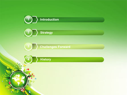Blooming Earth Concept PowerPoint Template, Slide 3, 07758, Nature & Environment — PoweredTemplate.com