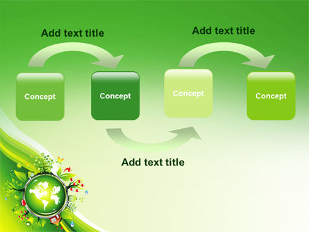 Blooming Earth Concept PowerPoint Template, Slide 4, 07758, Nature & Environment — PoweredTemplate.com